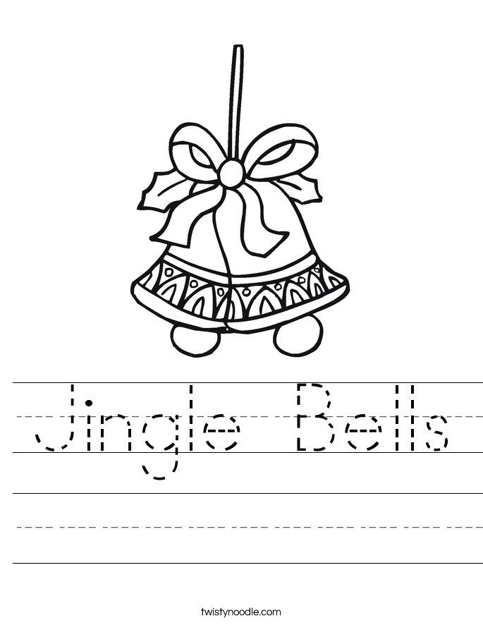 jingle bells coloring pages - photo#20