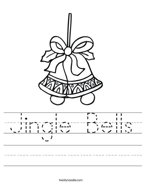 Holiday Bells Worksheet