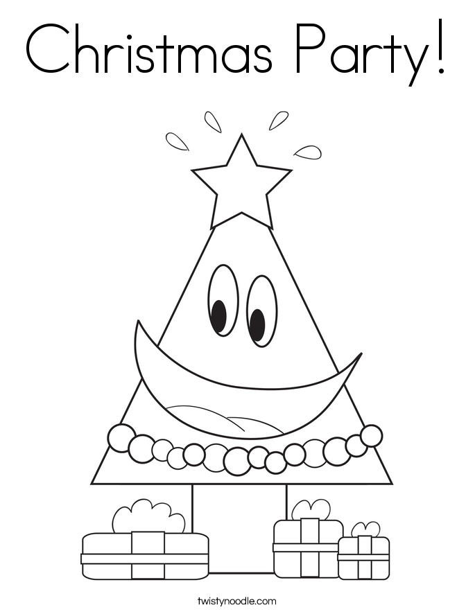 Christmas Party! Coloring Page