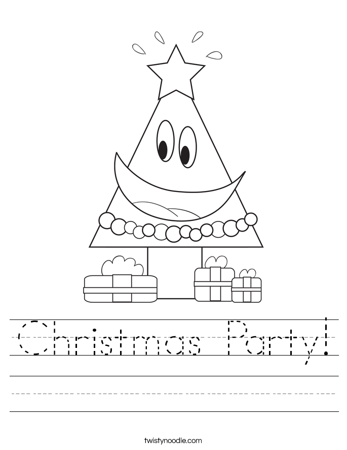 Christmas Party! Worksheet