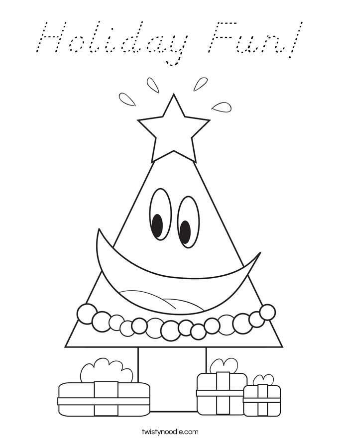 Holiday Fun! Coloring Page