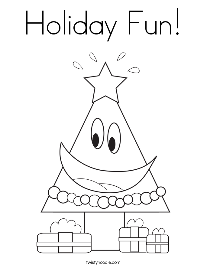 Holiday Fun! Coloring Page