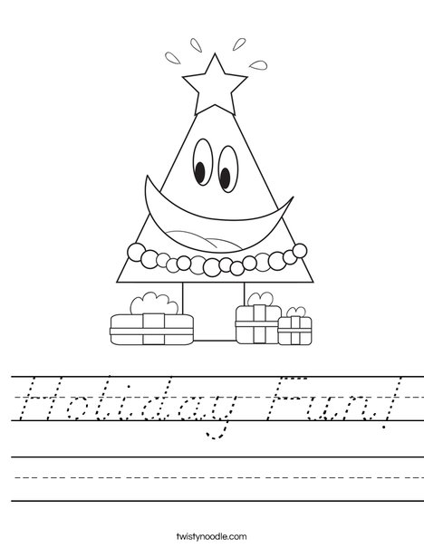 Holiday Tree Worksheet