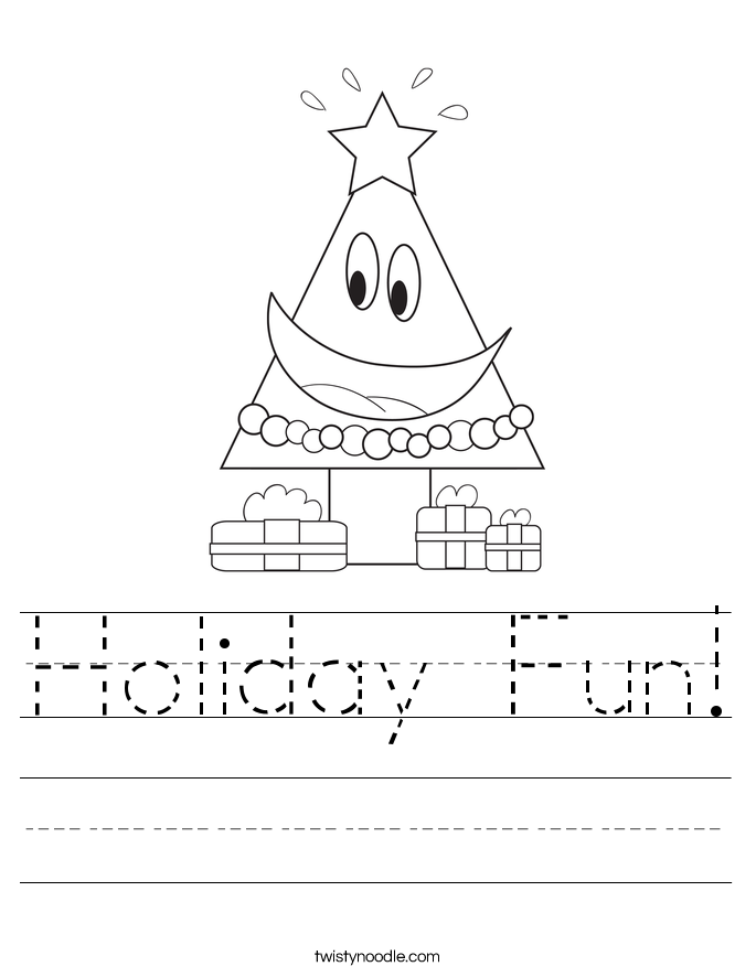 Holiday Fun! Worksheet