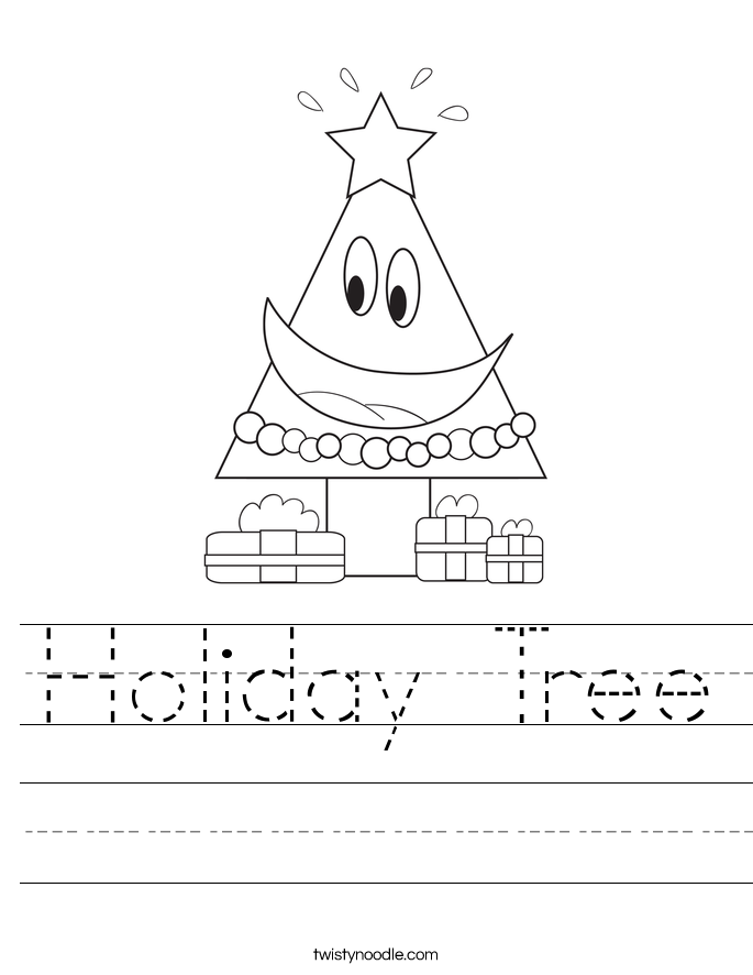 Holiday Tree Worksheet