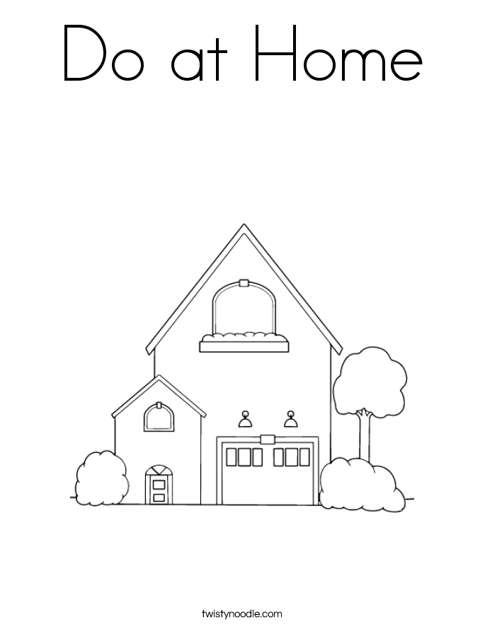 Do at Home Coloring Page