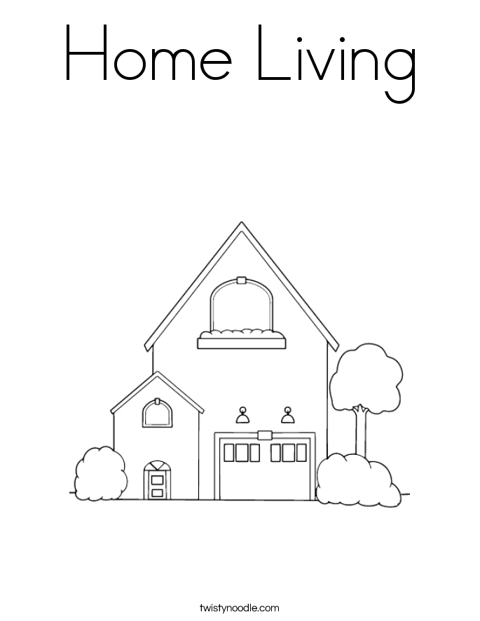 Home Living Coloring Page