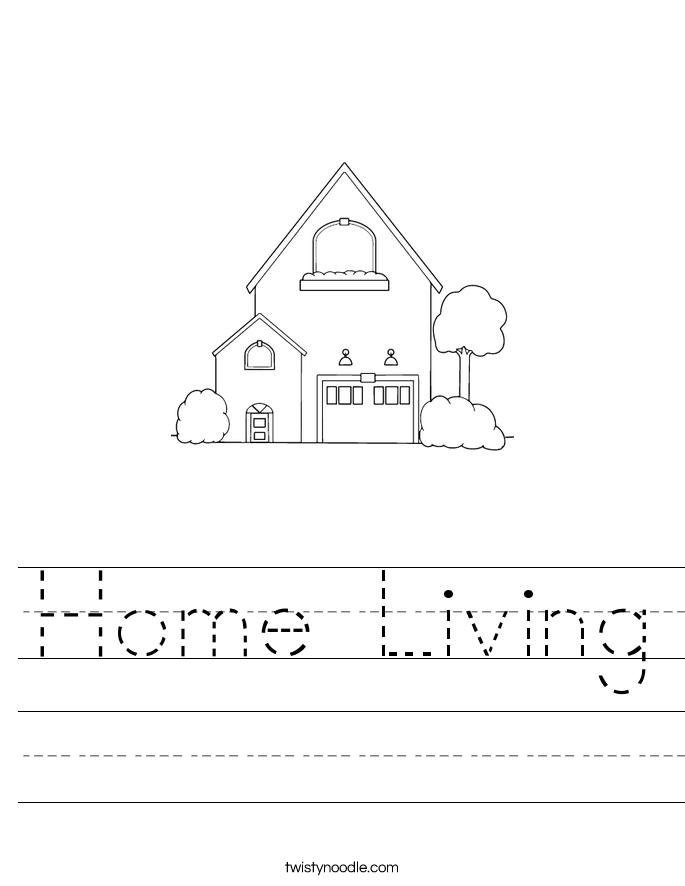 Home Living Worksheet