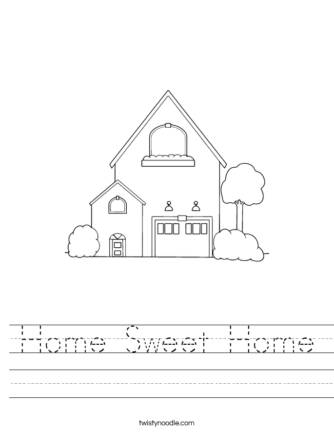 Home Sweet Home Worksheet