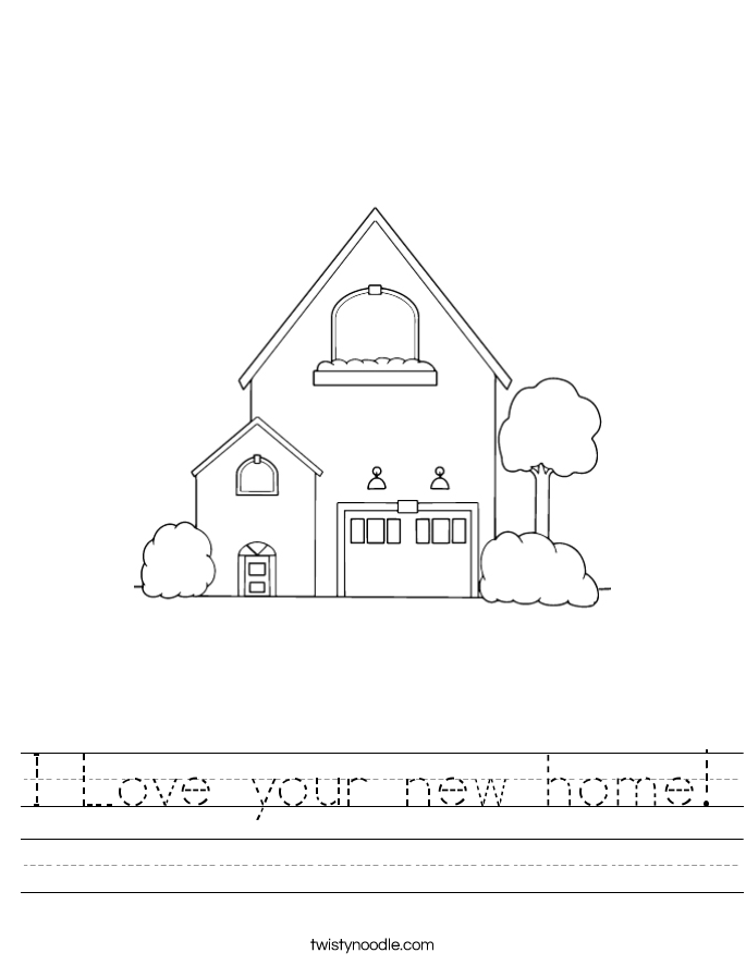 I Love your new home! Worksheet