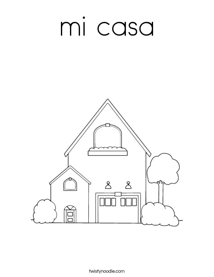 mi casa Coloring Page