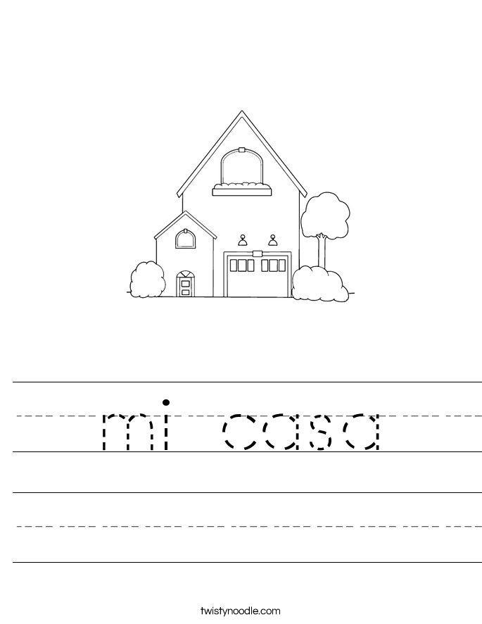 mi casa Worksheet