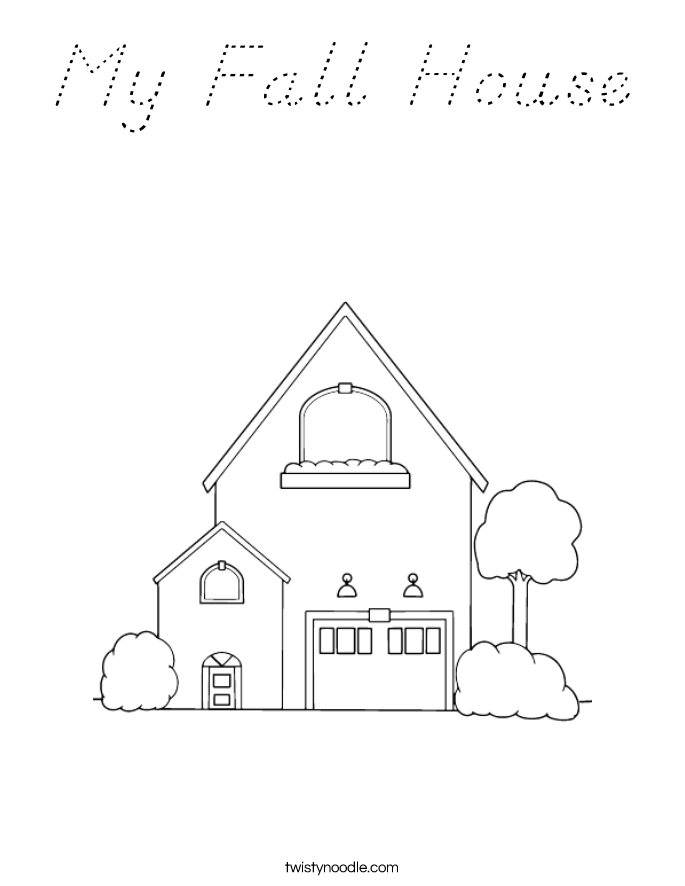 My Fall House Coloring Page