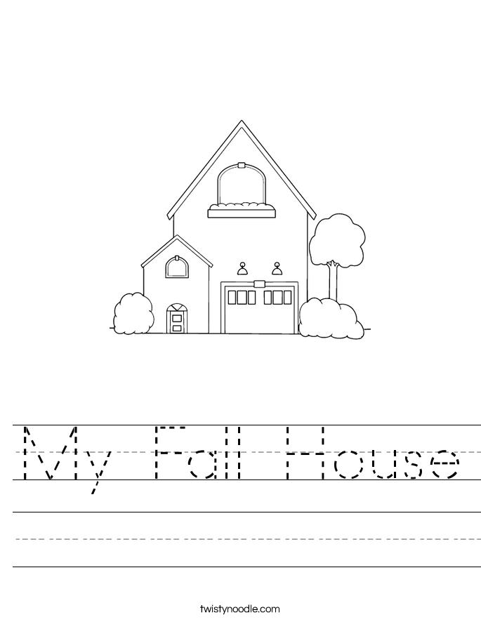 My Fall House Worksheet