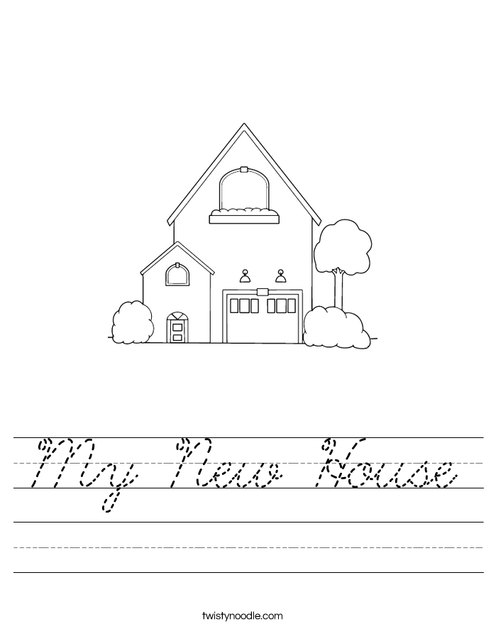 My New House Worksheet