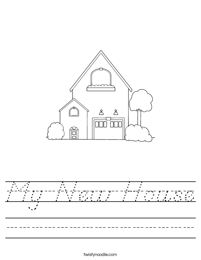 My New House Worksheet
