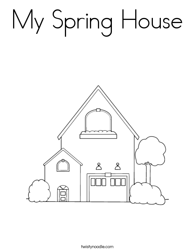 My Spring House Coloring Page