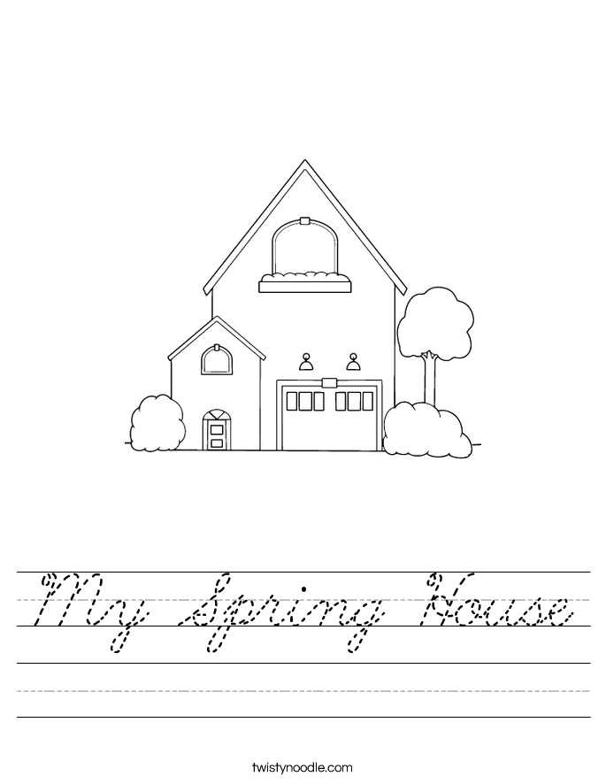 My Spring House Worksheet
