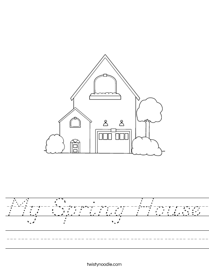 My Spring House Worksheet