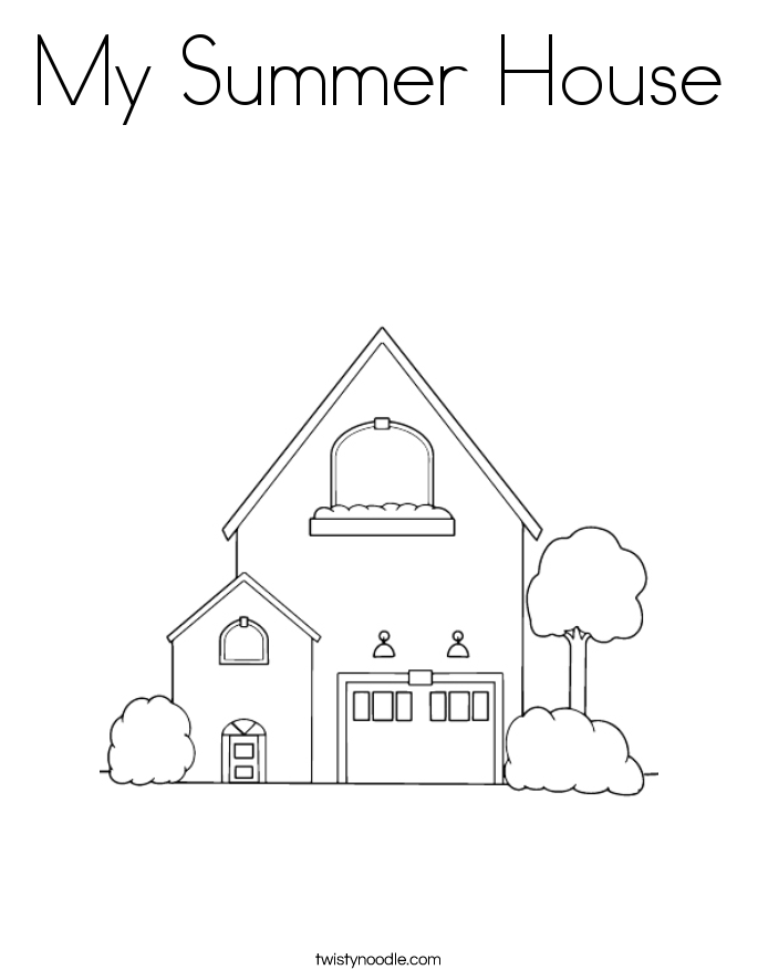 My Summer House Coloring Page