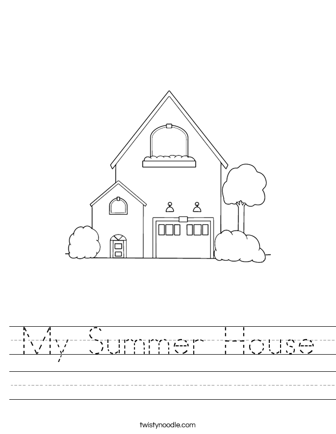 My Summer House Worksheet