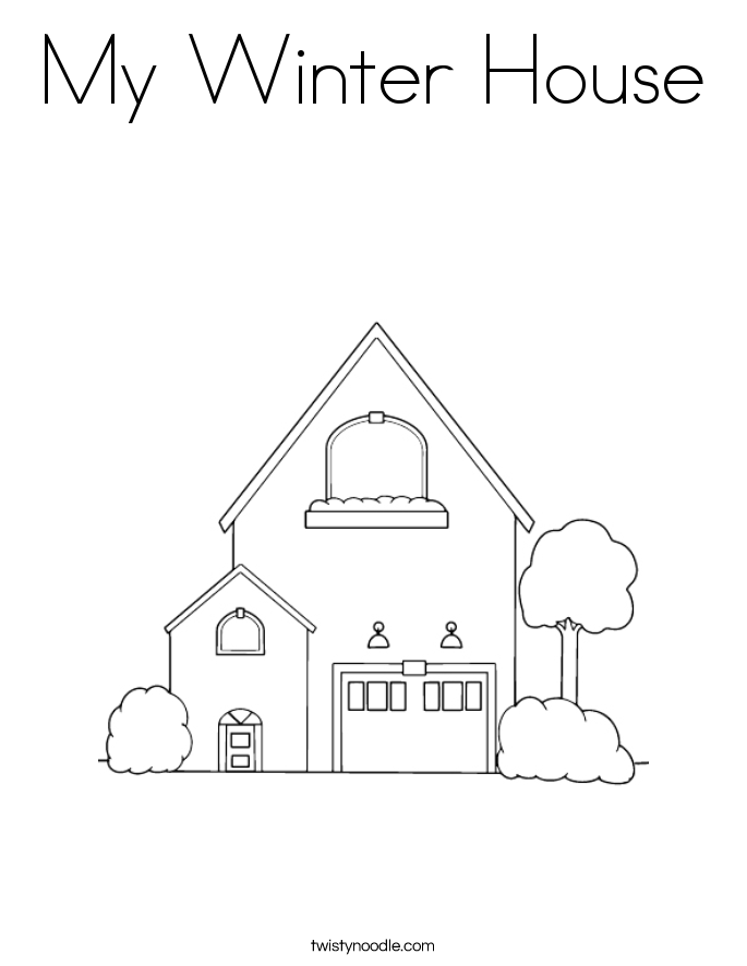 My Winter House Coloring Page