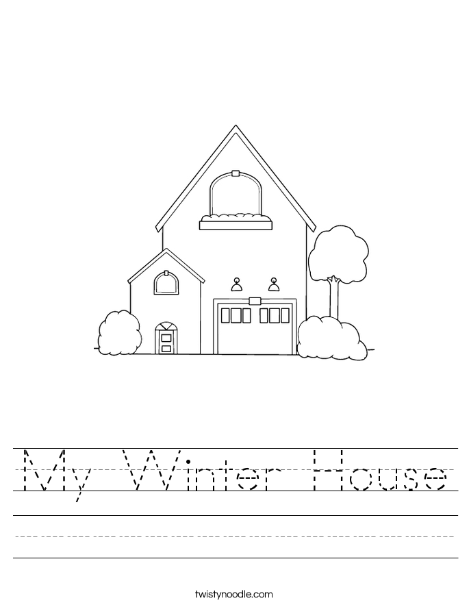 My Winter House Worksheet