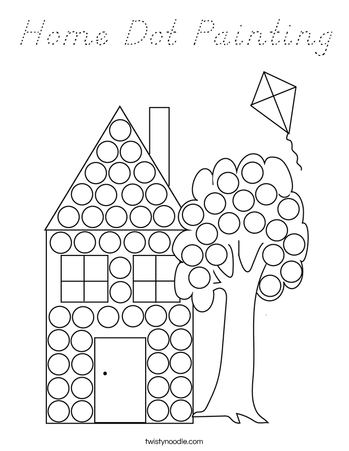 Home Dot Painting Coloring Page