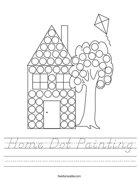 Home Dot Painting Worksheet