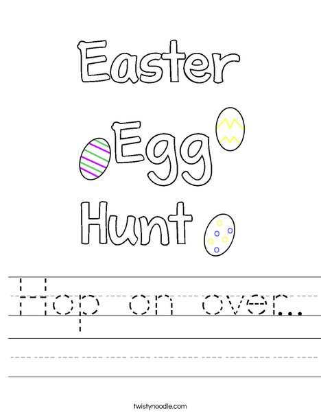 Hop on over... Worksheet