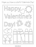 Hope you have a colorful Valentine's Day! Coloring Page