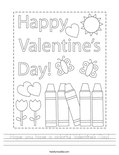 Hope you have a colorful Valentine's Day! Worksheet