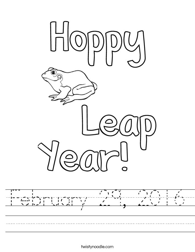 February 29, 2016 Worksheet