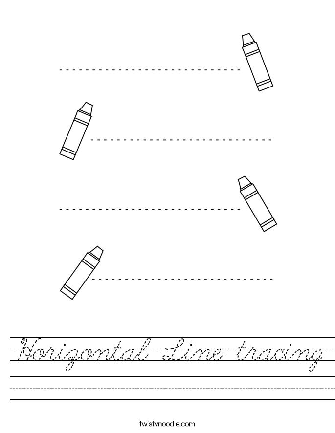 Horizontal Line tracing Worksheet