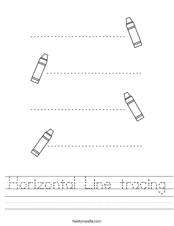 Horizontal Line tracing Worksheet