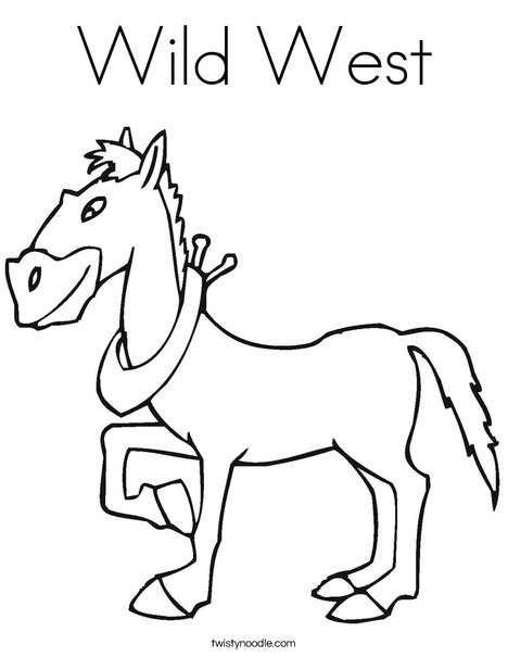 Wild West Coloring Page - Twisty Noodle