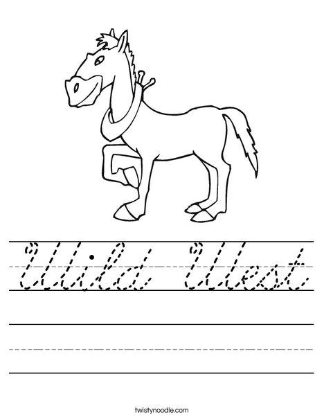 Wild Horse Worksheet