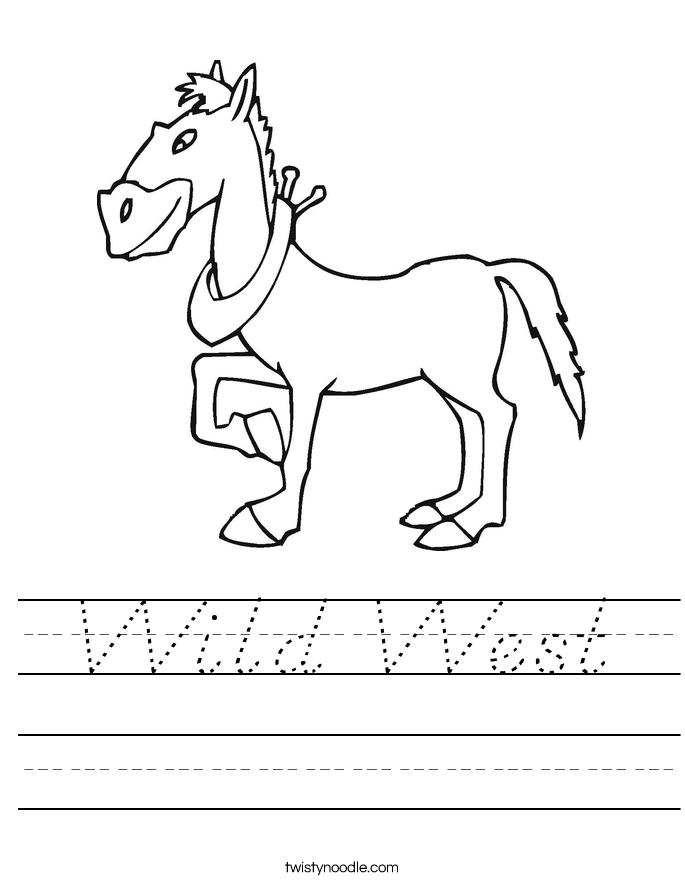 Wild West Worksheet
