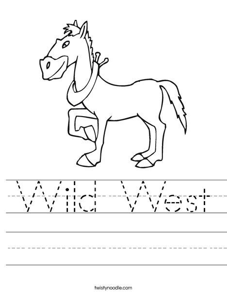 wild west worksheet twisty noodle. Black Bedroom Furniture Sets. Home Design Ideas