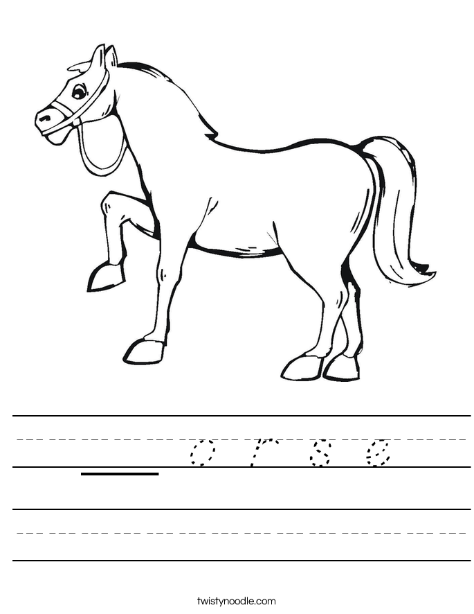 __ o r s e Worksheet