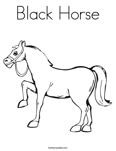 Black Horse Coloring Page
