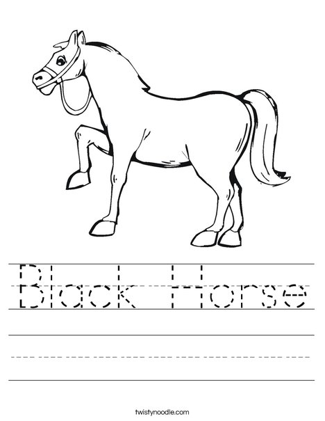 Black Horse Worksheet
