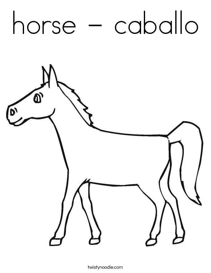horse - caballo Coloring Page