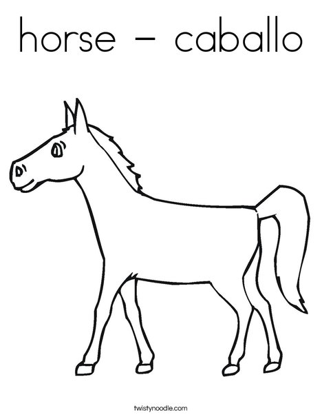 - Horse - Caballo Coloring Page - Twisty Noodle