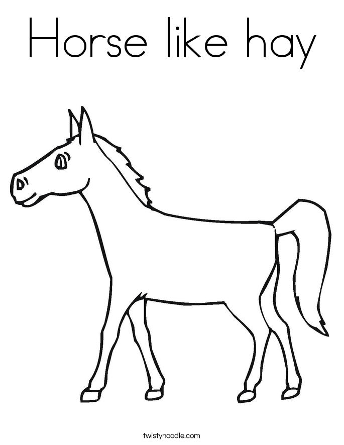 Horse like hay Coloring Page