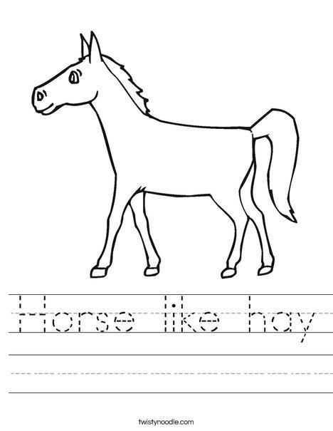 Pony Worksheet