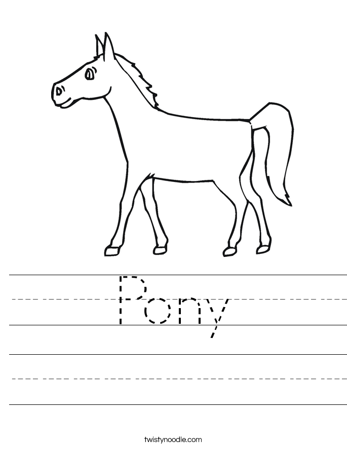 Pony Worksheet