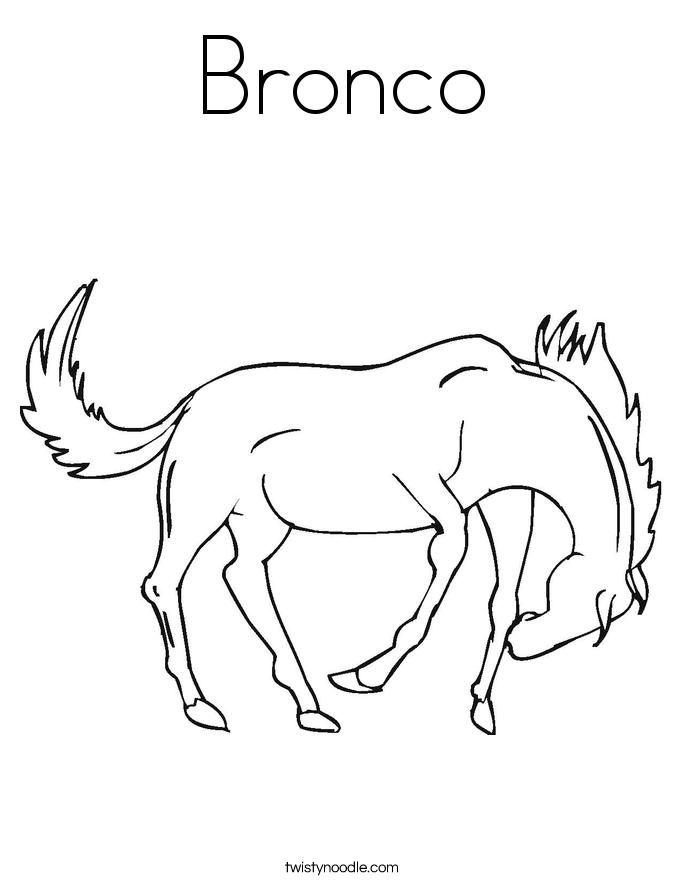 Bronco Coloring Page