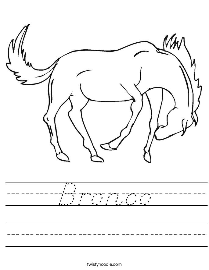 Bronco Worksheet