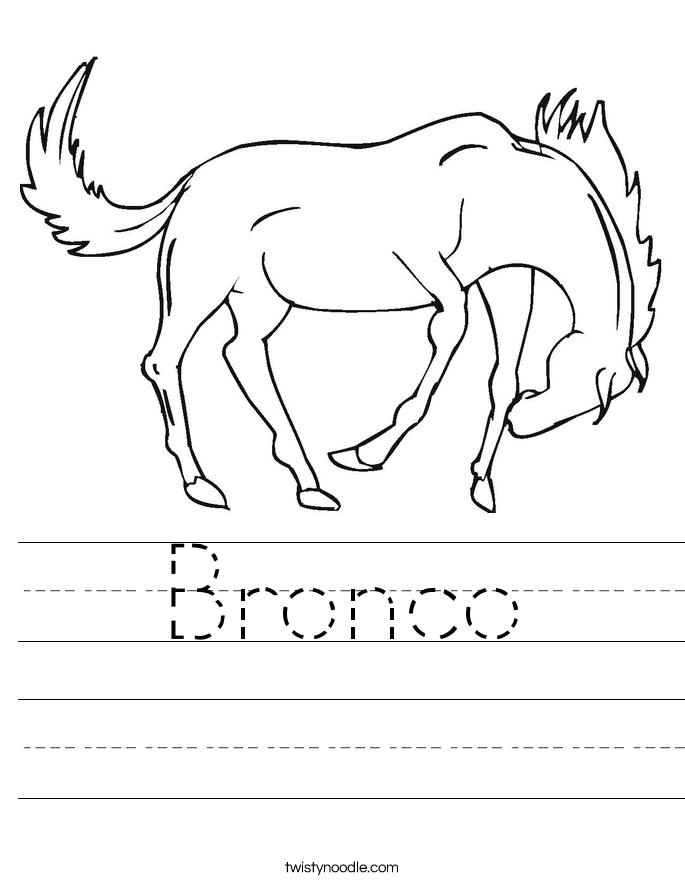 Bronco Worksheet